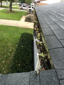 Damaged and Dirty Gutters